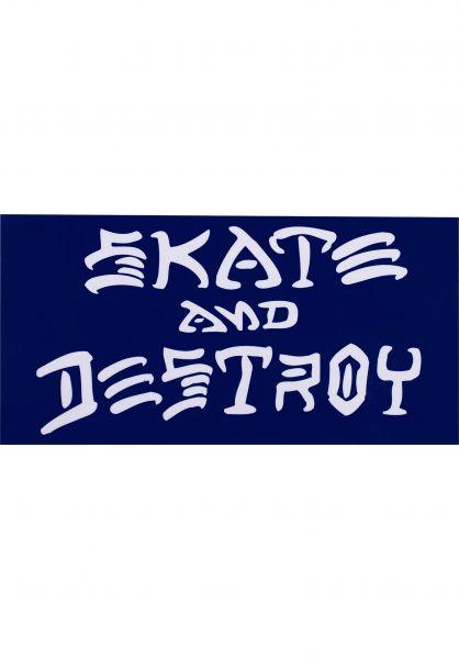 Thrasher Verschiedenes Skate & Destroy Sticker Large blue Vorderansicht