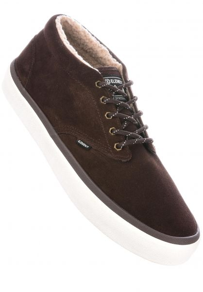Element Alle Schuhe Preston Fur walnut Vorderansicht