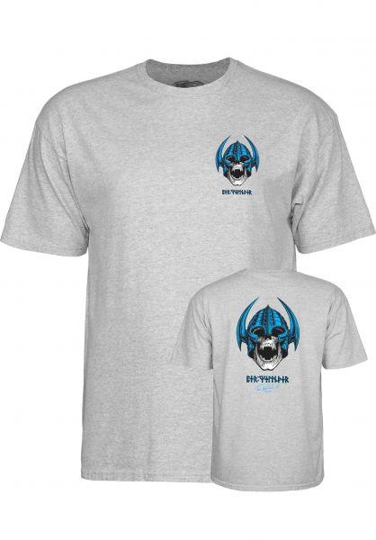 Powell-Peralta T-Shirts Welinder Nordic Skull gray Vorderansicht