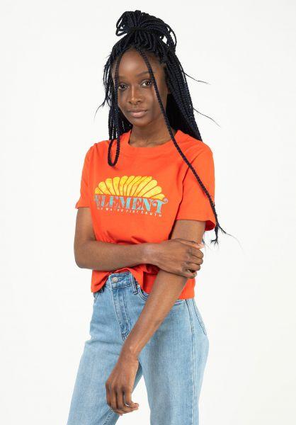 Element T-Shirts Debut spicyorange vorderansicht 0322791