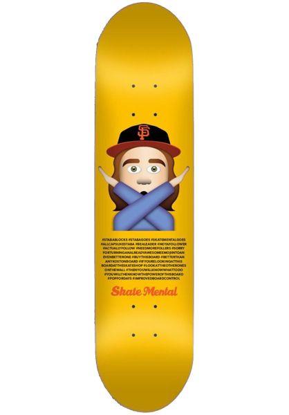 Skate-Mental Skateboard Decks Staba Emoji yellow vorderansicht 0114030