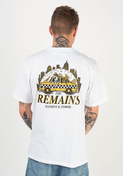 Element T-Shirts x Timber Taxi Driver opticwhite vorderansicht 0322583