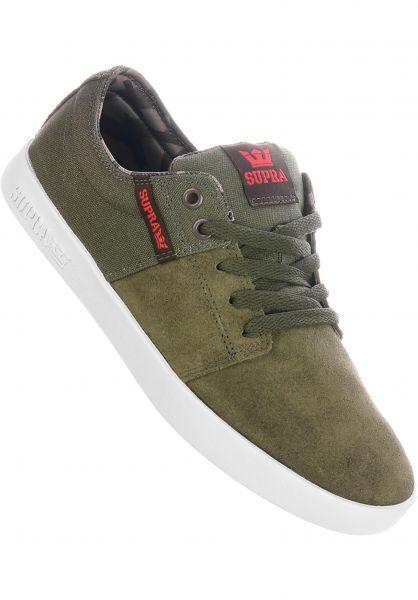 Supra Alle Schuhe Stacks II olive-demitasse vorderansicht 0603560