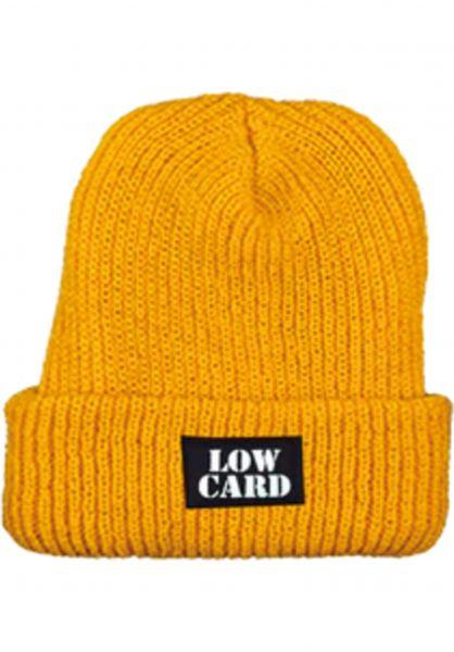 Lowcard Mützen Longshoreman mustard vorderansicht 0571009