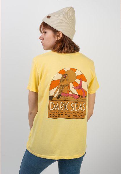 Dark Seas T-Shirts Coast to Coast Women yellow vorderansicht 0399101