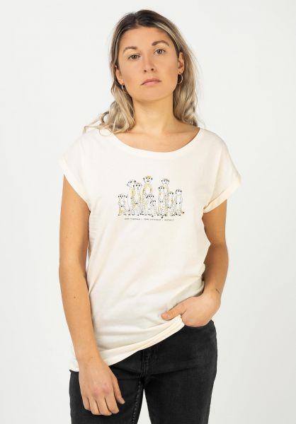 iriedaily T-Shirts Meerkatz vanilla vorderansicht 0322904