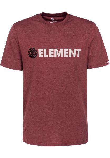 Element T-Shirts Blazin oxbloodheather Vorderansicht