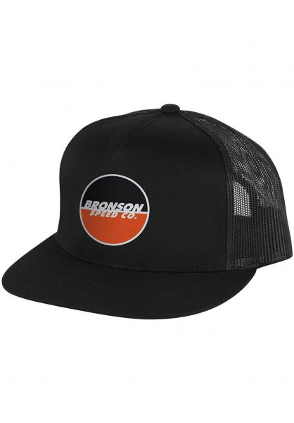 Bronson Speed Co. Caps Logo Trucker Mesh black vorderansicht 0564719
