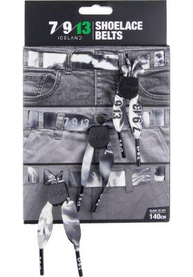 7/9/13 Black Tye Die Shoelaceblelts  3er Pack