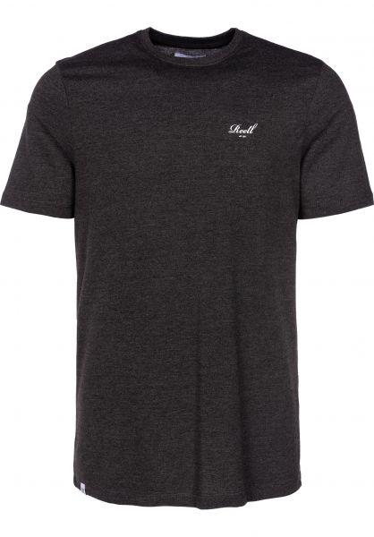 Reell T-Shirts Small Script darkgreymelange Vorderansicht