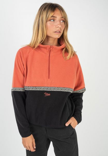 TITUS Sweatshirts und Pullover Nives orange-black vorderansicht 0422809