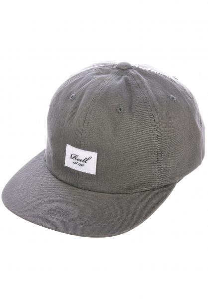 Reell Caps Flat 6 Panel charcoal vorderansicht 0565010