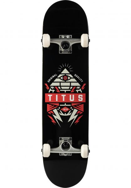 TITUS Skateboard komplett Pyramid black-orange vorderansicht 0161990