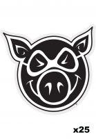 pig-verschiedenes-head-sticker-set-25-pk-black-vorderansicht-0972825