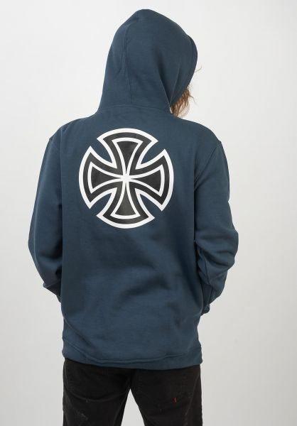 Independent Hoodies Bar Cross navy vorderansicht 0444333
