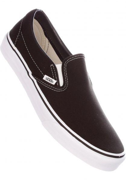 Vans Alle Schuhe Classic-Slip-On black-white Vorderansicht