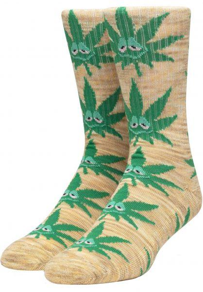 HUF Socken Green Buddy yellow vorderansicht 0631389