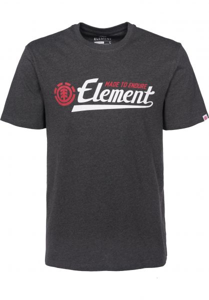 Element T-Shirts Signature charcoalheather-red Vorderansicht