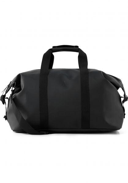 Rains Taschen Weekend Bag black vorderansicht 0891680