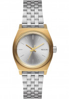 Nixon Uhren The Small Time Teller gold-silver-silver Vorderansicht