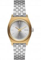 Nixon Uhren The Small Time Teller gold-silver-silver Vorderansicht