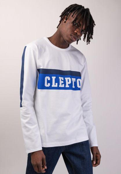 Cleptomanicx Longsleeves College Team white vorderansicht 0383148