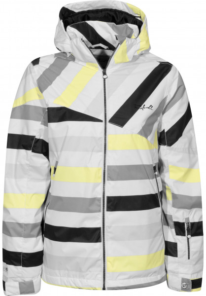 Rehall Snowboardjacken Coco-11-yellowstripe yellow-striped Vorderansicht