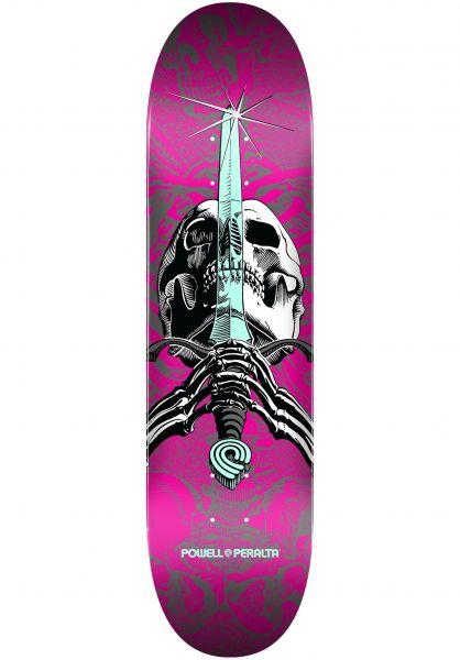 Powell-Peralta Skateboard Decks Skull & Sword Birch one off-pink vorderansicht 0117163