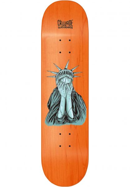 Cruzade Skateboard Decks Shame orange vorderansicht 0263576