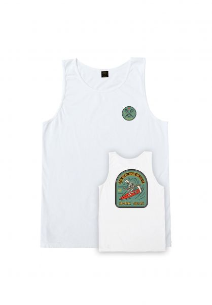 Dark Seas Tank-Tops Doosmday Pigment white vorderansicht 0137914