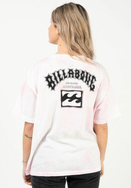Billabong T-Shirts Arch Black pink vorderansicht 0322863