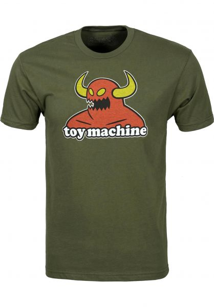 Toy-Machine T-Shirts Monster military Vorderansicht