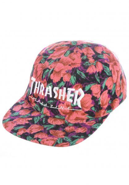 Thrasher Caps Mag Logo Snapback pink floral vorderansicht 0566969