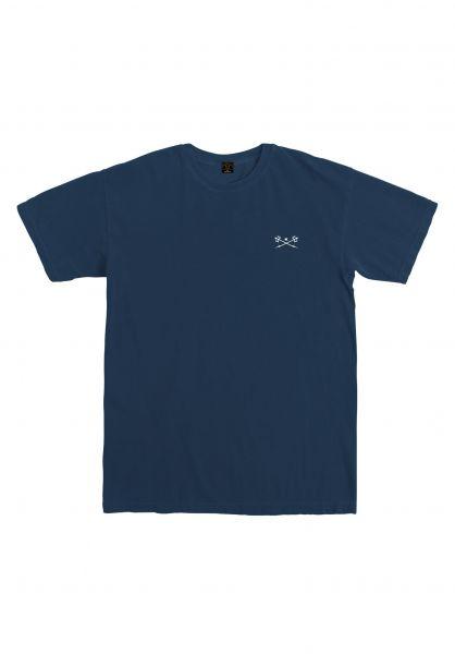 Dark Seas T-Shirts Go-To-Tee Pigment Dyed navy vorderansicht 0320424