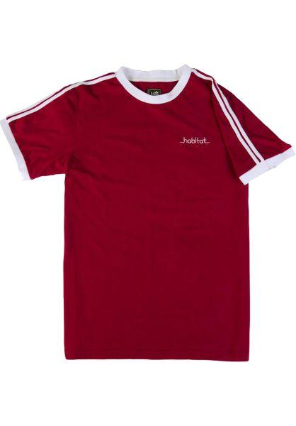 Habitat T-Shirts Lines Ringer burgundy-white vorderansicht 0320579