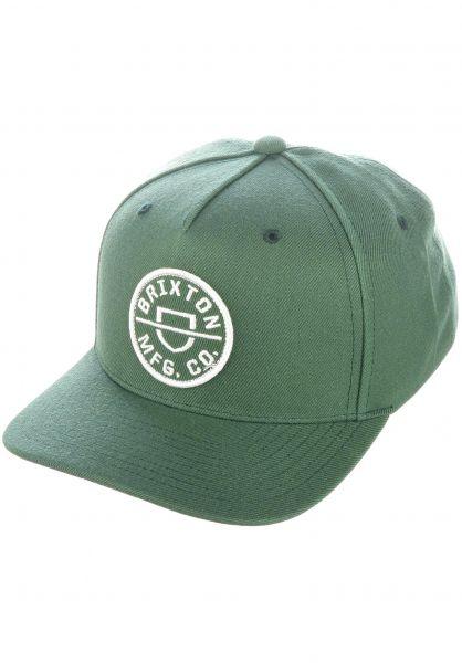 Brixton Caps Crest C silver-pine vorderansicht 0566917