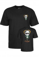 Powell-Peralta-T-Shirts-Mc-Gill-Skull-Snake-black-Vorderansicht