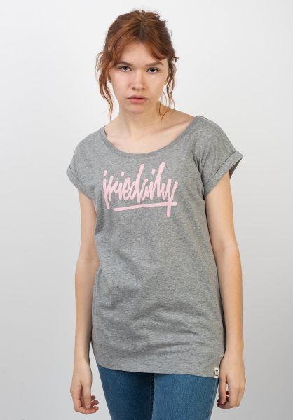 iriedaily T-Shirts Taggety greymelange vorderansicht 0399177