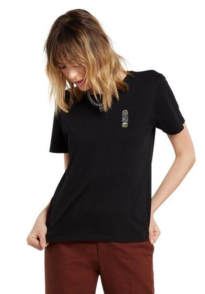 Volcom T-Shirts Simply Daze black vorderansicht 0322254