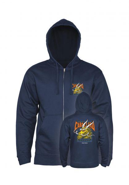 Powell-Peralta Zip-Hoodies Cab Street Dragon navy vorderansicht 0454806