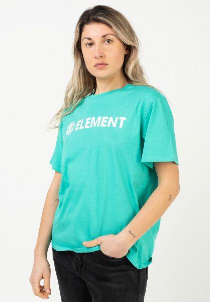 Element T-Shirts Element Logo atlantis vorderansicht 0395826