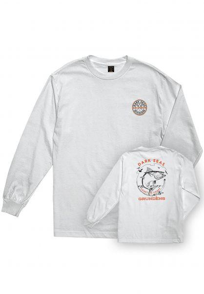 Dark Seas Longsleeves x Grundens Fisheye white vorderansicht 0382912