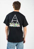 huf-t-shirts-botanical-garden-tt-black-vorderansicht-0322598