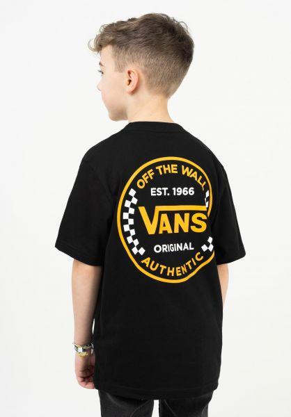 Vans T-Shirts Authentic Checker Kids black vorderansicht 0323445