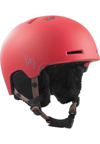 TSG Snowboardhelme Cosma Solid Color satin crimson Vorderansicht