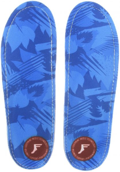 Footprint Insoles Einlegesohlen Kingfoam Orthotic Camo Low blue Vorderansicht