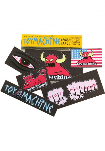 Toy-Machine Griptape Grip Sticker Pack black vorderansicht 0142292