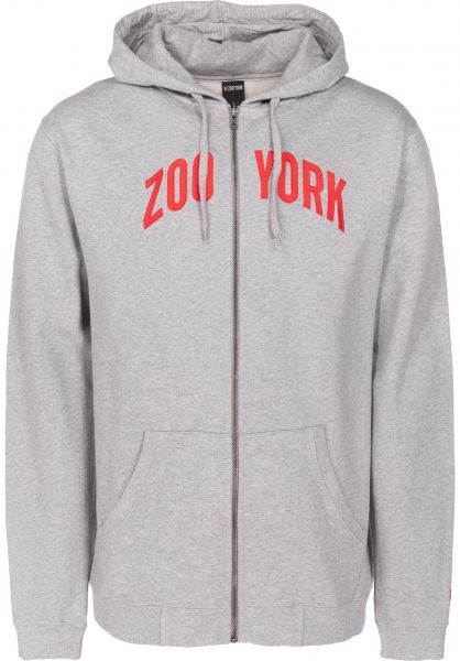 Zoo York Zip-Hoodies Zoo Zip heathergrey vorderansicht 0454767