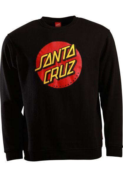 Santa-Cruz Sweatshirts und Pullover Classic Dot black vorderansicht 0422117