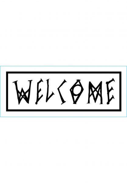 Welcome Verschiedenes Scrawl white-black vorderansicht 0170413